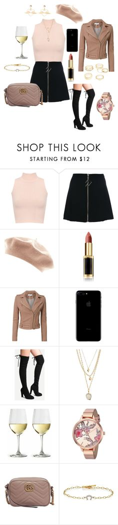 """""""Untitled #868"""" by lilachswan ❤ liked on Polyvore featuring WearAll, Versus, L'Oréal Paris, IRO, Panacea, Nine West, Gucci, Cathy Waterman and Charlotte Russe"""