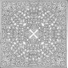More MYSTICAL MANDALAS Coloring Book: by the Illustrator, Alberta Hutchinson, of the Original Mystical Mandala Coloring Book -  Dover Publications - COLORING PAGE 4