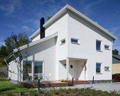 Moderne woning met lessenaarsdaken
