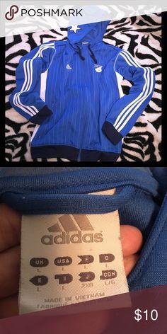 Blue Adidas sweat Jacket Lightly used but still in very good shape blue Adidas sweat jacket Adidas Jackets & Coats