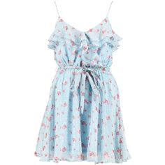 Boohoo Daisy Floral Chiffon Frill Skater Dress ($30) ❤ liked on Polyvore featuring dresses, skater dress, bodycon dress, body con dresses, floral chiffon dress and cocktail dresses