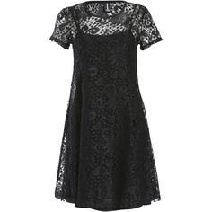 Izabel A mini fit and flare dress made from soft and stretchy lace fabric. The dress features short sleeves and a round neckline. Skater Dresses. Textured. Abo…