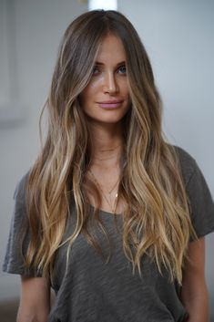 """Johnny Ramirez specializes in """"lived in color"""" - a subtle enduring way of highlighting your hair that neither balayage nor ombre for Blondes, Brunettes, Red Heads. Balayage Hair Blonde, Brown Blonde Hair, Brown Beach Hair, Brunette Hair Colors, Honey Balayage, Bronde Balayage, Medium Blonde, Hair Medium, Medium Brown"""