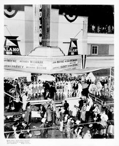 "WOODLAWN THEATRE - San Antonio, TX - 1960 World Premiere of ""The Alamo"" starring John Wayne."