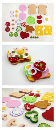https://www.facebook.com/justynazakrockacom #felt #food #feltfood #sandwich #toys #filc