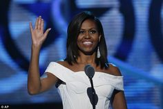 Michelle Obama (above) attended the Black Girls Rock award show on Saturday night...