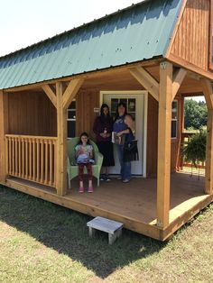 A Family In Russellville, AR Who Is Very Happy With Their New Purchase Of A  · Portable BuildingGracelandBuildings