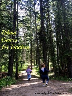 Hiking Activities to get toddlers hiking!