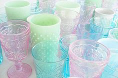 colored glass collection by such pretty things, via Flickr