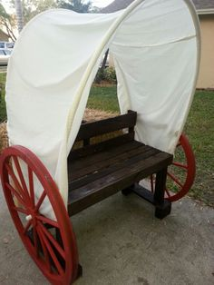 Diy covered wagon photo booth prop