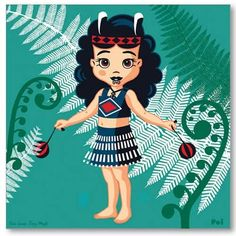 Poi and Ferns by Contour Creative Studio Greeting Card. A greeting card featuring a young Maori girl dancing with poi. Maori Patterns, Maori People, Maori Tattoo Designs, New Zealand Art, Nz Art, Fantasy Art Women, Creative Studio, Creative Ideas, Maori Art
