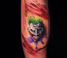 Joker tattoo by Ben Ochoa