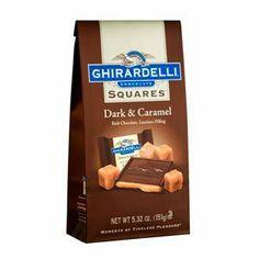 Ghirardelli Chocolate Dark Chocolate & Caramel Squares Chocolates Gift Bag, 5.32 oz. - http://bestchocolateshop.com/ghirardelli-chocolate-dark-chocolate-caramel-squares-chocolates-gift-bag-5-32-oz-2/
