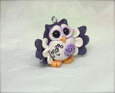 Mother's day owl polymer clay keepsake figurine ornament