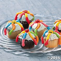 Octopus Cupcakes Idea | Make a splash at your luau party or beach bash with these scrumptious under-the-sea-inspired cupcakes. #luau #recipes