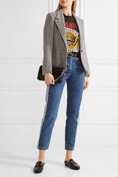 Paul & Joe - Clamecy Paneled Slim Boyfriend Jeans - Mid denim -