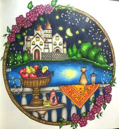 Romantic Country Vol I by Eriy colored with Faber-Castell Polychromos pencils #RomanticCountrycoloring book #Eriy #Polychromos #Coloringbooks #Faber-castell