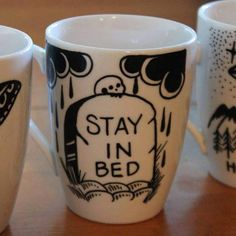 Stay in bed coffee cup Coffee Cups, Tea Cups, Coffee Coffee, Stay In Bed, Gothic Home Decor, Gothic House, Cute Mugs, Mug Cup, Kitchenware