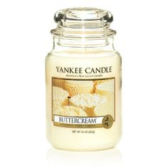 Create a warm and inviting ambiance in your home with the Yankee Candle Buttercream Scented Candles. This mouthwatering aroma features hints of fresh churned butter creamed with confectioner's sugar and vanilla bean for an enticing fragrance. Yankee Candle Scents, Yankee Candles, Scented Candles, Candle Jars, Candleholders, Classic Candles, Candles For Sale, Smell Good, Candle Making