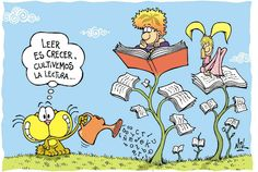 cecer=to grow lectura= reading Diary Quotes, Book Quotes, Spanish Jokes, Learning Spanish, Spanish Class, I Love Books, Funny Art, Dory, Embedded Image Permalink
