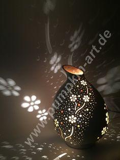 Pumpkin Lamp Flower Garden Moonstone