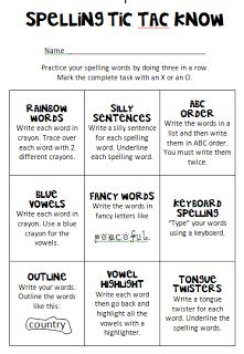 Debbie's Dabblings: Friday Freebie - Spelling Practice