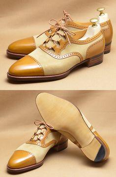 Hiro Yanagimachi - 3 Loop Oxford Straight-tip, Gillie Spectator Style