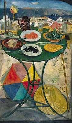 Clean Monday: an Unusual Greek Vegetarian Feast - Aglaia's Table οn Kea Cyclades Carnival Crafts, Modern Art, Contemporary Art, Mediterranean Art, Greece Painting, Street Art, Call Art, Color Of Life, Conceptual Art
