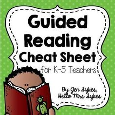 "Guided Reading Cheat Sheet for Teachers!Are you busy? Do you sometimes forget the elements of your Guided Reading lesson? This is a ""cheat sheet"" to help teachers in grades remember what to do before/during/after reading during a Guided Reading lesson. Guided Reading Activities, Guided Reading Lessons, Guided Reading Groups, Reading Skills, Teaching Reading, Teaching Tools, Teaching Resources, Guided Reading Strategies, Teaching Ideas"
