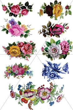 Images of Flowers Vector Roses Floral Graphics by TuiTrading