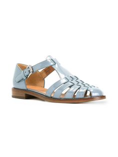 Church's patent woven front sandals
