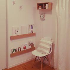 himimesaさんの、セリア,イームズチェア風,雑貨,北欧,お気に入りのCD,無印良品,リビング,のお部屋写真