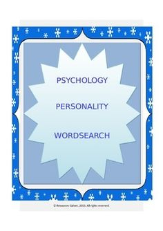A fun activity which includes some important concepts in Personality Psychology!Check out more quality, ready-to-use resources:More from Resources GaloreFollow me on:PinterestCLICK on the green FOLLOW ME button and be the first to know when new resources become available!Thank you for visiting my store!Prathiba*****************************************************************************How to get TPT credit to use on future purchases: Go to your My Purchases page.