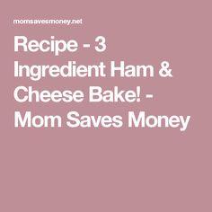 Recipe - 3 Ingredient Ham & Cheese Bake! - Mom Saves Money