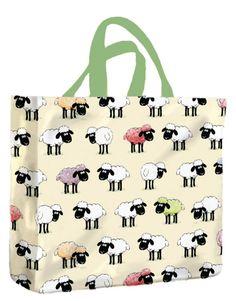 Sheepish PVC Medium Gusset Bag by McCaw Allan