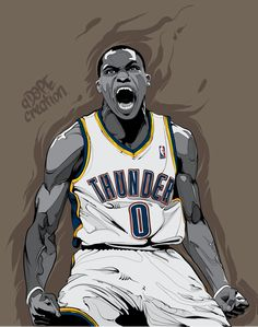 Russell Westbrook 'Intensity' Illustration                                                                                                                                                                                 More