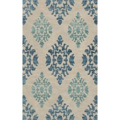 "Dalyn Rug Co. Bella Beige/Blue Area Rug Rug Size: Runner 2'6"" x 8'"