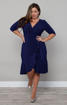 Whimsy Wrap Dress in Blue http://www.curvety.com/dresses-c1/day-dresses-c5/kiyonna-whimsy-wrap-dress-in-blue-p230