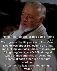 I think this is a George Lucas error, but I'm not complaining about prequels Obi-Wan because Ewan Mcgregor is fiiine
