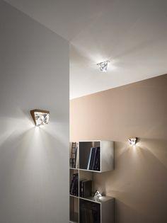 LED crystal ceiling lamp TRIPLA | Ceiling lamp - Fabbian