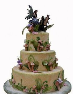 Amy Brown fairies inspired cake.