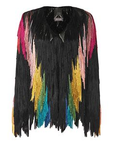 Tim Ryan Rainbow Fringe Jacket: All over tiered fringe on a collarless jacket… Winter Outfits, Cool Outfits, Collarless Jacket, Clothing Hacks, Tall Clothing, Petite Fashion Tips, Fringe Jacket, Autumn Winter Fashion, Vintage Fashion