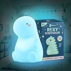 Rexy The Original Dinosaur Night Light by BabyTimes - Cute Baby Night Light, Night lamp Rechargeable LED Bedside Nurs... Best Baby Night Light, Star Night Light, Stars At Night, Dinosaur Light, Night Light Projector, Night Lamps, Night Lights, Dinosaur Gifts, Room Lights
