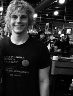 eVAN pETERS. He reminds me of my dog. He's dead T.T.T