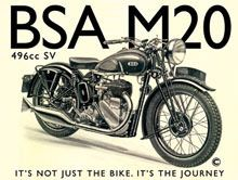 BSA M20 metal wall sign