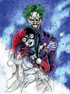 Harley and Joker - madly romance by Gengiskahn.deviantart.com on @deviantART