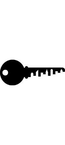 """Center of Architecture Este logo me parece interesante desde su retórica, ya que la llave de una casa hace referencia al """"centro"""" de esa arquitectura que se representa por una serie de edificios en la ranura de la llave."""