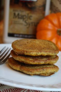 Gluten Free-Vegan Pumpkin Pancakes. These are really yummy! Add a lot of water to thin them down.