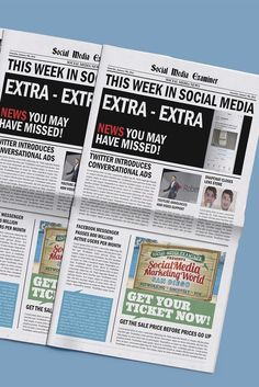 Welcome to our weekly edition of what's hot in social media news.  To help you stay up to date with social media, here are some of the news items that caught our attention.| 01-09-16|  Via @smexaminer.
