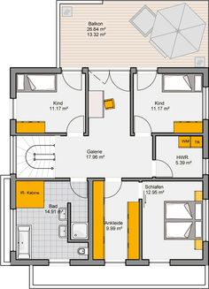 Architekten-Haus Varano | Modernes Fertighaus mit Studio Apartment Floor Plans, Tiny House, House Plans, Construction, Flooring, How To Plan, Architecture, Studio, Diagram